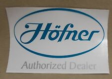 New Old Stock Hofner Authorized Dealer Bass Guitar Company Window Decal