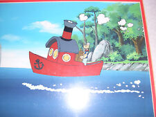 Popeye the Salor production set up with background. cel framed Limited Edition
