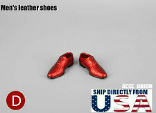"1/6 Men Shoes Evening Dress Shoes BLUE For 12"" Hot Toys Phicen U.S.A. SELLER"