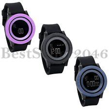 Men Women 30M Waterproof Black Silicone Date Day LED Digital Sport Wrist Watch