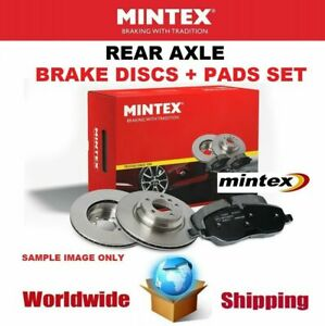 MINTEX Rear Axle BRAKE DISCS + PADS SET for MERCEDES BENZ S-Class S500 2011-2013
