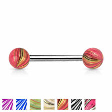 Joyas de color principal multicolor de acero quirúrgico para el cuerpo