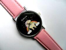 Simpatico cartone animato Unicorno di fronte Orologio al Quarzo Cinturino Rosa