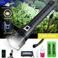 Most Powerful XHP90 XHP120 XHP160 LED Flashlight Rechargeable Zoom Torch Lantern