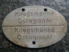 Dogtag Erkennungsmarke KRIEGSMARINE OSTLEGIONÄR legioen soldaat