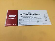 San Francisco 49ers Tampa Bay Buccaneers RARE Ticket Stub 10/23/2016 Jameis