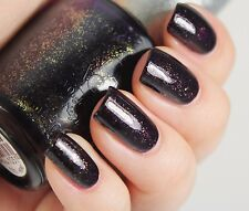 OPI DS Designer Series MYSTERY Deep Purple Gold Shimmer Nail Polish Lacquer DS37