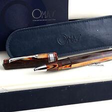 OMAS Celluloid Arco Brown Hi-Tech Trim Rollerball Pen