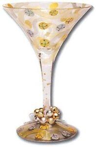 Lolita | JINGLE BELLS MARTINI GLASS *NEW* CHRISTMAS HOLIDAY RARE HAND PAINTED US