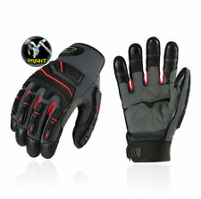 Vgo 1/3 Pairs Grain Cowhide Leather Heavy Duty Work Gloves,Touchscreen(CA9730HL)