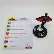 Heroclix Arkham Asylum set Batman (Batman Beyond) #016 Common figure w/card!