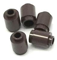 Lego 5 New Dark Brown Bricks Round 1 x 1 Open Stud Cannonballs Pieces