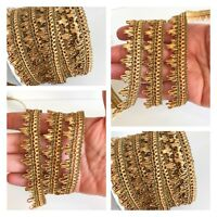 3 Meters Latest Indian 12 MM Velvet Lace Dupatta Kinare Sari Border Ribbon Trim