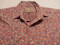 Reyn Spooner Mens Large S/S Button-Front Multicolor Floral Hawaiian Shirt