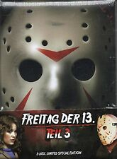 Friday The 13th Part 3 - Blu Ray & Dvd + Mediabook - 3 Discs !