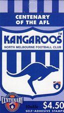 1996 AUSTRALIAN STAMP BOOKLET AFL CENTENARY KANGAROOS 10 x 45c STAMPS MUH