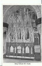 Gloucestershire Postcard - King Edward 11's Tomb - Gloucester Cathedral  ZZ1414