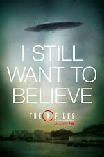"""THE X FILES 2016 FOX TELEVISION SERIES """"I STILL WANT TO BELIEVE"""" PROMO POSTER 2"""