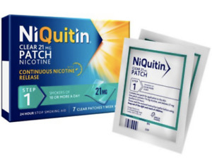 NiQuitin Clear patch Step 1 x 42 patches FREE P&P