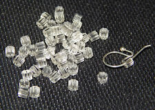 Plastic earring backs stoppers flexible 50 (25 pairs)