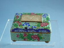 Late Qing Dynasty  Cloisonne Box Inlaid Jade