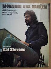 Foglio CANZONE mattina ha rotto CAT STEVENS 1971