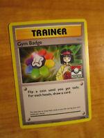 NM LEAGUE Pokemon ERIKA'S GYM BADGE Card BLACK STAR PROMO Set XY206 Holo Trainer