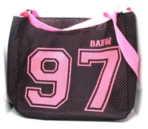 BABW Pink & Black Adjustable Strap Tote Bag #97 Animal School Bag Carry All