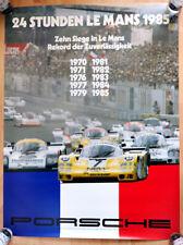 """orginal Porsche Plakat Poster """"Le Mans"""" von 1970 bis 1985 Siegt Porsche"""