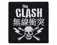 OFFICIAL LICENSED - THE CLASH - SKULL & BOLTS WOVEN SEW-ON PATCH PUNK STRUMMER