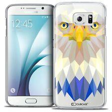 Coque Housse Etui Pour Galaxy S6 Polygon Animal Rigide Fin Aigle