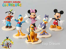 6pcs Mickey Minnie Mouse Cake Toppers Clubhouse Donald Daisy Duck Goofy Figures