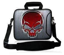 """SKULL Laptop Shoulder Bag Sleeve Pouch for 15"""" 15.6"""" Samsung Acer Asus Dell HP"""