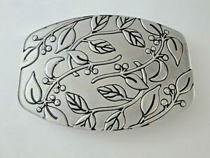 WILTON Armetale Trivet Small Rectangular Botanica Pattern Leaf Berries Metal