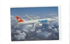 Balair airlines Switzerland issued 767-300 (blue letter) cont/l postcard