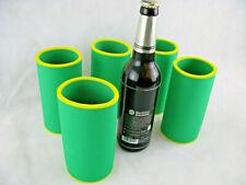 5er Set Getränkekühler 0,5l FLASCHE Bierkühler Neoprenkühler passgenau - Grün
