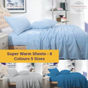 Ramesses Cashmere Touch Polar Fleece Flannel Sheet Set Warm Sheet Winter Bedding