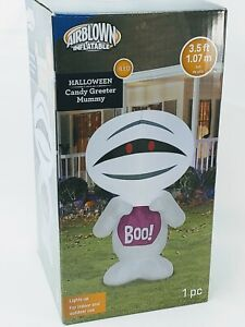 Halloween Inflatable Candy Mummy 3.5 ft Gemmy Airblown Party Greeter Yard 🔥