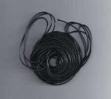 5 meter 3mm Black real Round Genuine Leather cords Jewelry Cord string Rope