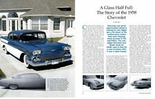 1958 CHEVROLET ~ NICE 16-PAGE ARTICLE / PICTORIAL / AD