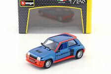 Renault 5 turbo año de fabricación 1982 azul/rojo 1:24 Bburago
