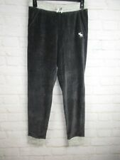 Abercrombie and Fitch Girls Sweatpants Gray Velvet Joggers size 13-14 NWOT