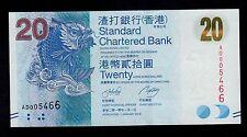 Hong Kong  20 DOLLARS  2010 STANDAR BANK  PICK # 297  UNC.