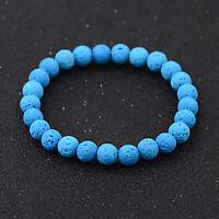8MM Natural Lava Stone Beads Healing Reiki Diffuser Men Women Bracelets Jewelry