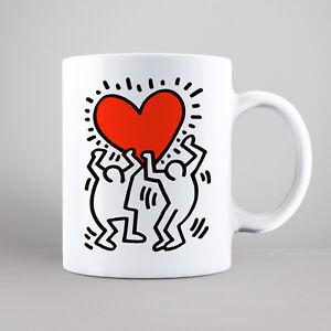 Keith Haring Mug, Heart Art Print Keith Haring Tea Coffee Mug