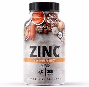 Zinc Citrate 50mg Capsules - Health, Skin, Hair, Vision, Immune Acne - Tablets
