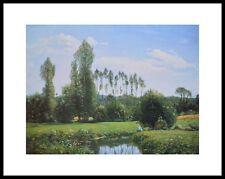 Claude Monet Ansicht von Rouelles Poster Kunstdruck Bild mit Alu Rahmen 24x30cm