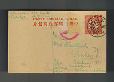 1941 Shanghai China Censored Postcard Cover Jewish Ghetto to Czechoslovakia