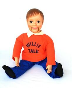 """Vintage Willie Talk 21"""" Ventriloquist Doll for Boys and Girls Horseman 1960's"""