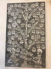 Saint Bonaventure Incunabulum, Full Page Woodcut, Circa 1498, Not Complete